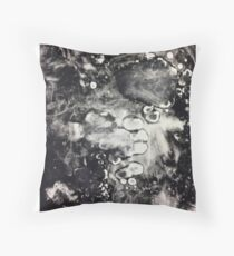 Monoprint Mess Throw Pillow