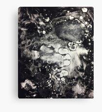 Monoprint Mess Canvas Print