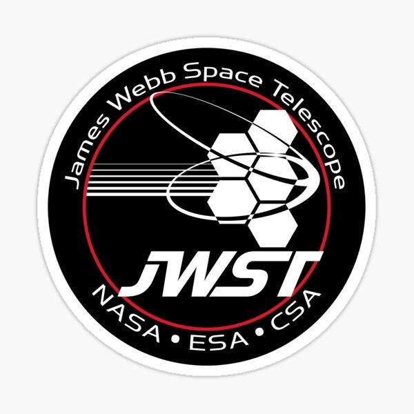 JWST - Autocollant de logo de télescope spatial James Webb Sticker