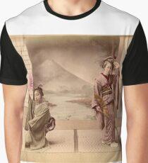 Two geisha girls dancing Graphic T-Shirt