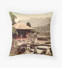 Dainichido Garden, Japan Throw Pillow