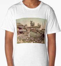 Iris garden at Horikiri, Japan Long T-Shirt