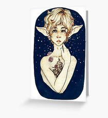 Lonely Elf Sketch Greeting Card