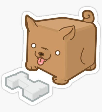 Cube Puppy Sticker