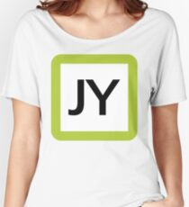 JY / 山手線ロゴ-Yamanote Line logo- Women's Relaxed Fit T-Shirt
