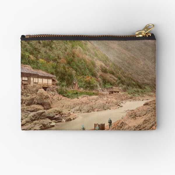 View of rapids, Kyoto Zipper Pouch