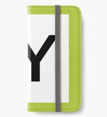 JY / 山手線ロゴ-Yamanote Line logo- iPhone Wallet/Case/Skin
