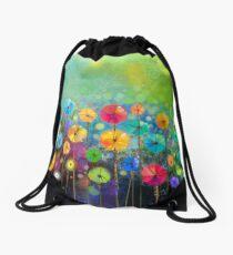 Dandelion Rainbow Drawstring Bag