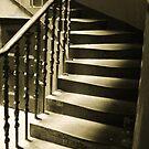 Light on worn steps - Edinburgh by Andy Duffus