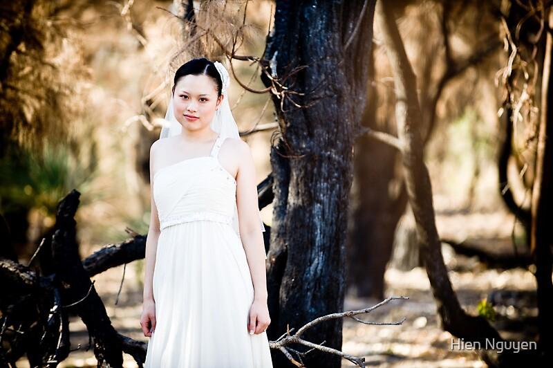 A bride and a burnt landscape. by Hien Nguyen