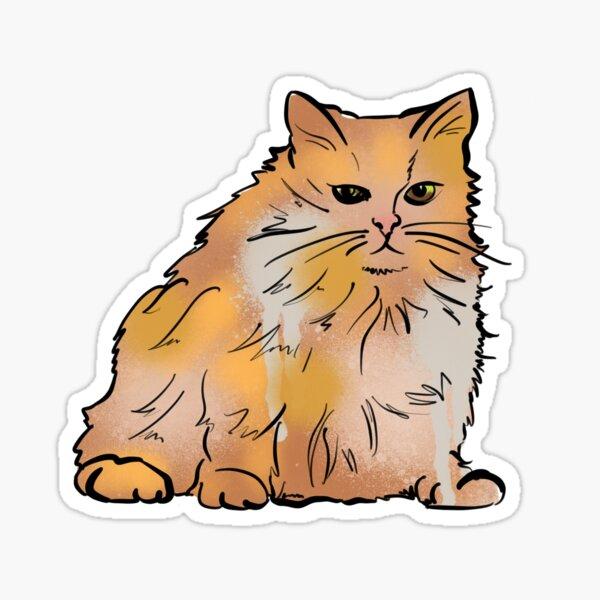 Fat Orange Persian Sticker