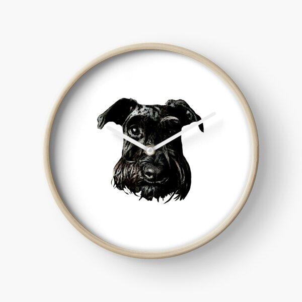 Black Schnauzer Gaze Clock