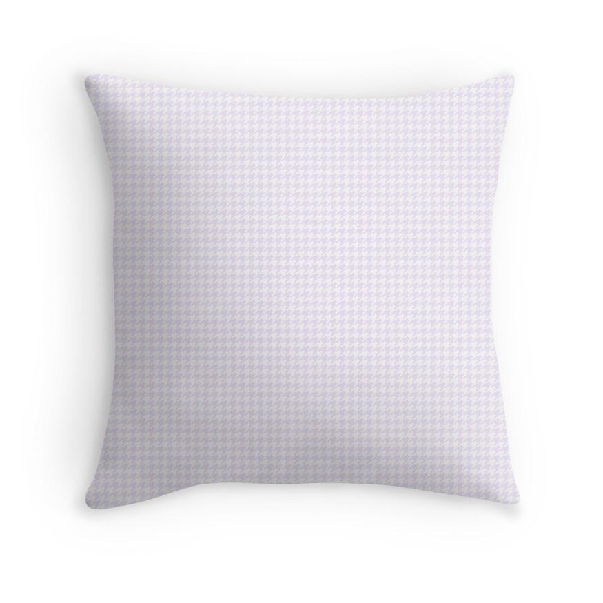 Pale Lilac and White Hounds tooth Check Pattern