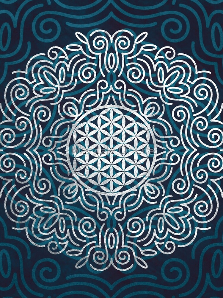 Flower Of Life (Silver Lining) by PatternsofLife
