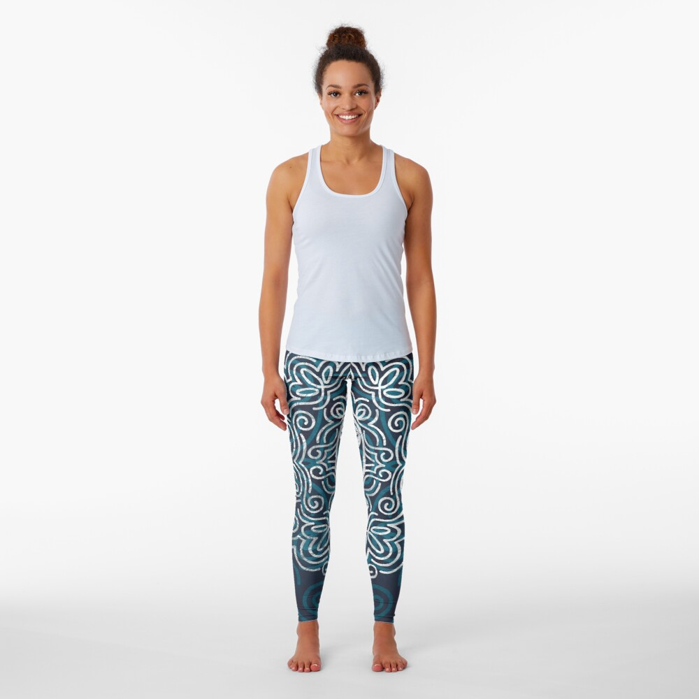 Flower Of Life (Silver Lining) Leggings