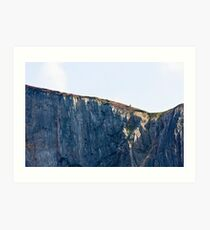 The Solitary Hiker Art Print