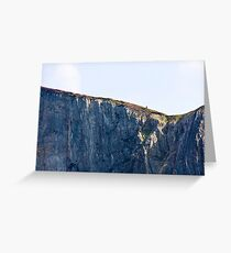 The Solitary Hiker Greeting Card