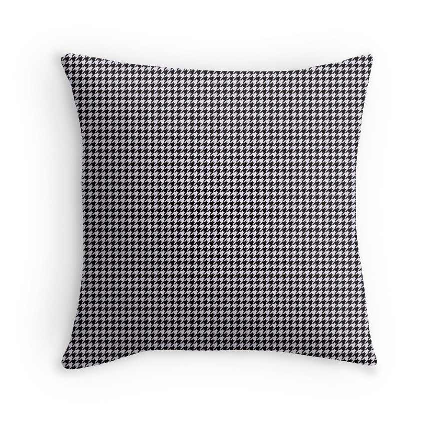 Pale Lilac Pastel and Black Houndstooth Check