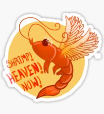 Funny Shrimp Stickers | Redbubble