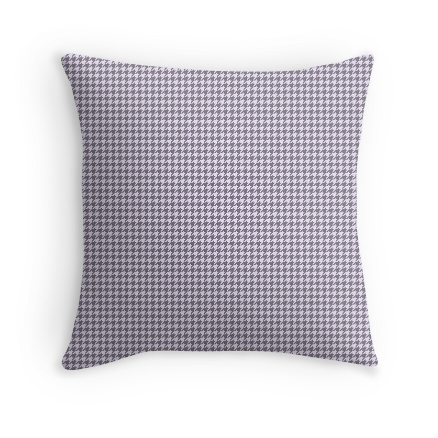 Pale Lilac Pastel and Grey Houndstooth Check