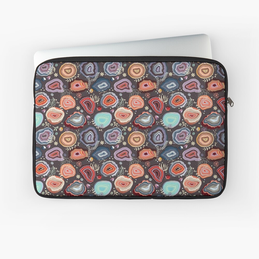 Colorful agates Laptop Sleeve