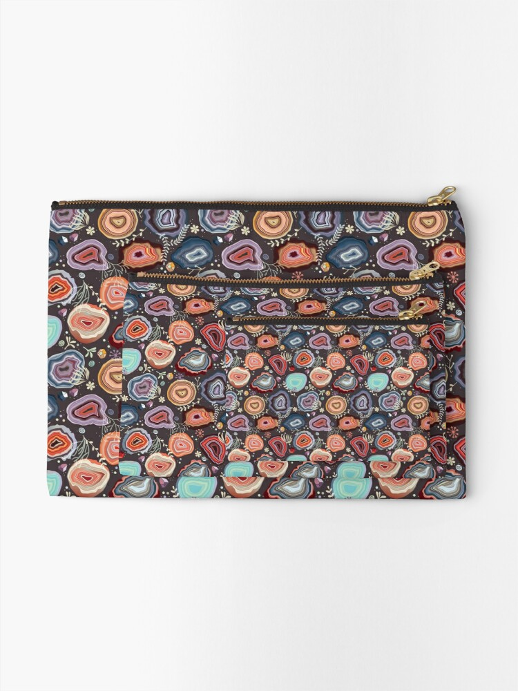 Alternate view of  Colorful agates Zipper Pouch