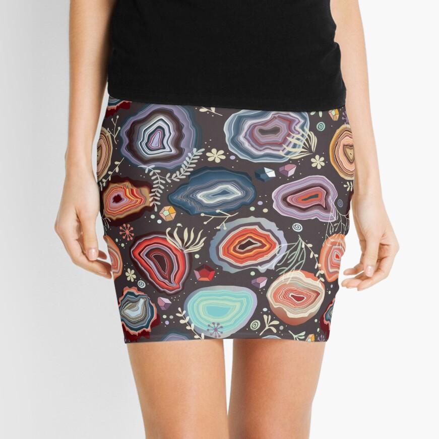Colorful agates Mini Skirt