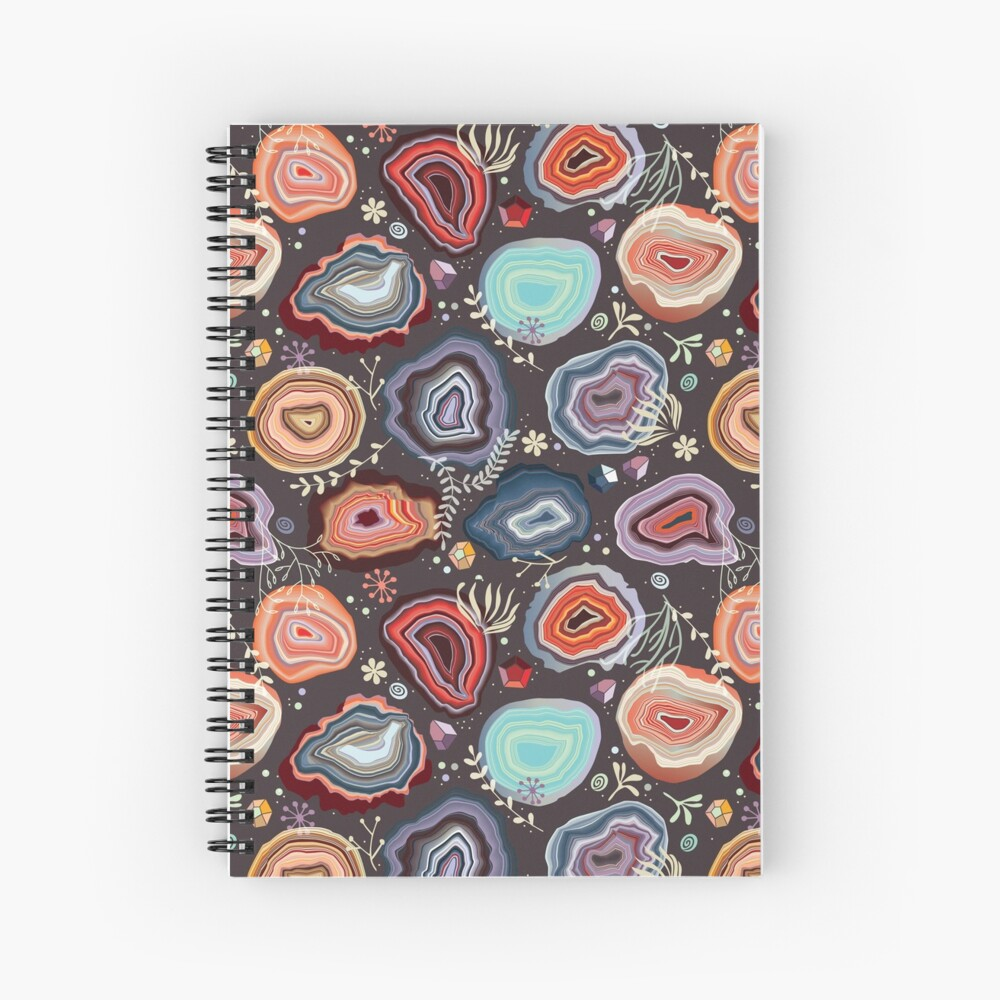 Colorful agates Spiral Notebook
