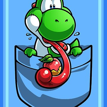 Pocket Yoshi with Fruit Tshirt by Purrdemonium