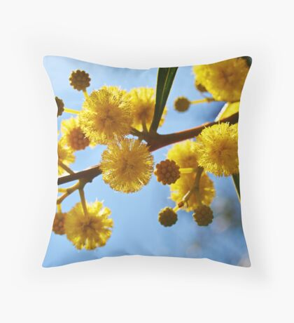 Yellow balls Throw Pillow