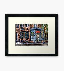 Cafe America Framed Print