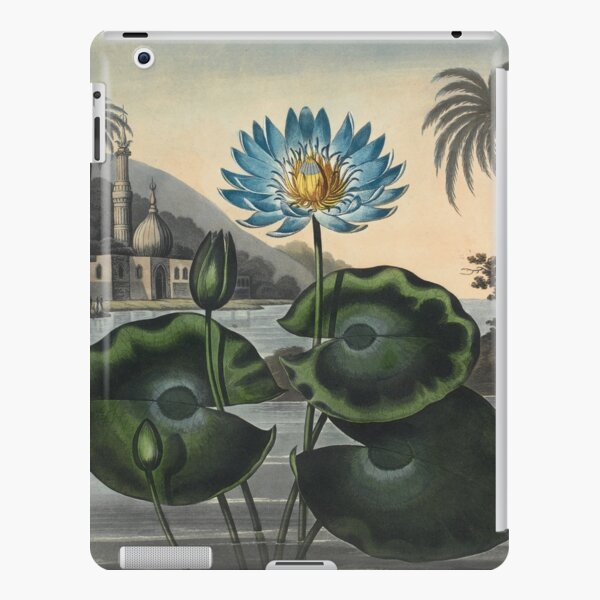 Botanical illustration: Blue Egyptian water lily by Robert Thornton – State Library Victoria iPad Snap Case