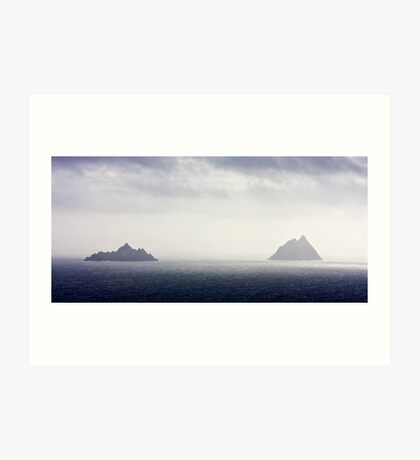 The Skellig Rocks Art Print