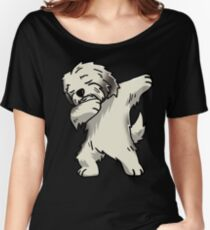 Dabbing Cream Havanese Women's Relaxed Fit T-Shirt