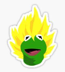 Saiyan Kermit Sticker