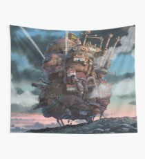 Howl's Moving Castle Landscape (Studio Ghibli anime) Wall Tapestry