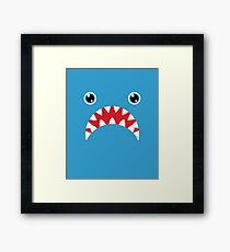 Shark Face Framed Print