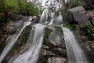 Toorongo Falls - a view from the base by Jim Worrall