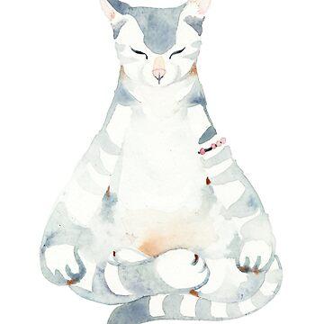Yoga Cat by jjsgarden