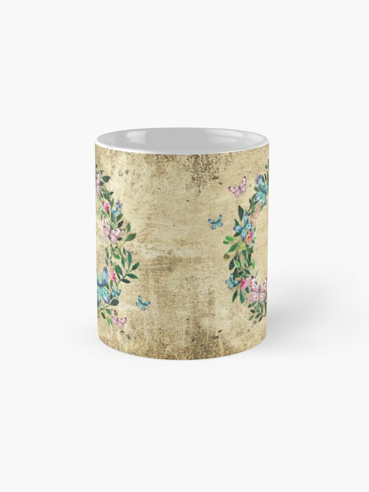 Alternate view of Wreath #Flowers & Butterflies#Royal collection Mug