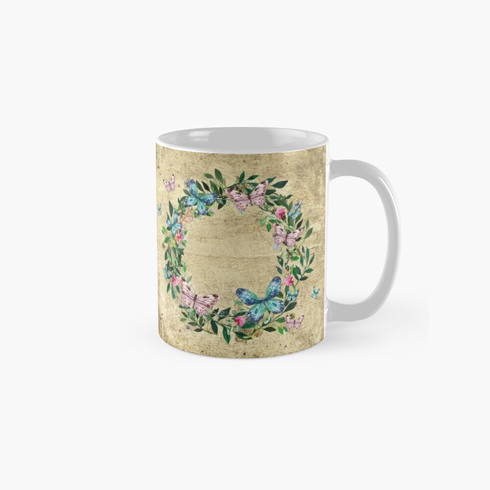 Wreath #Flowers & Butterflies#Royal collection Mug