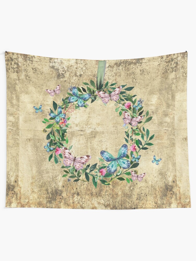 Alternate view of Wreath #Flowers & Butterflies#Royal collection Tapestry