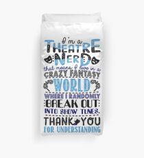Funny Theatre Nerd Definition T-shirt Duvet Cover