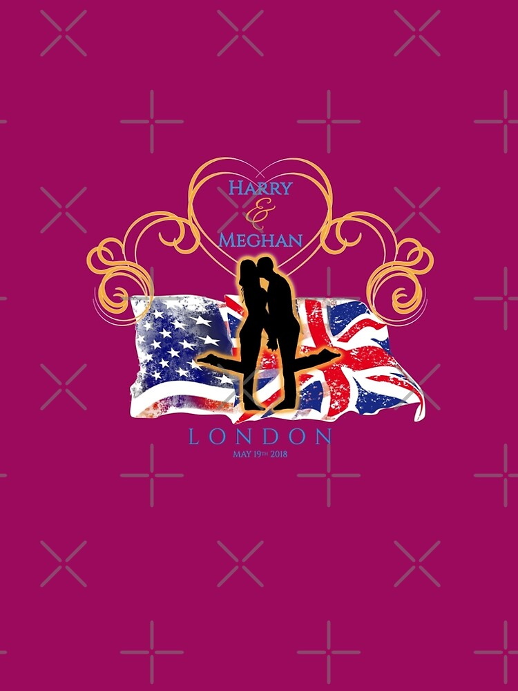 Royal Wedding Romantic T Shirt - Harry and Meghan 2018 UK with USA  by CliqueBank