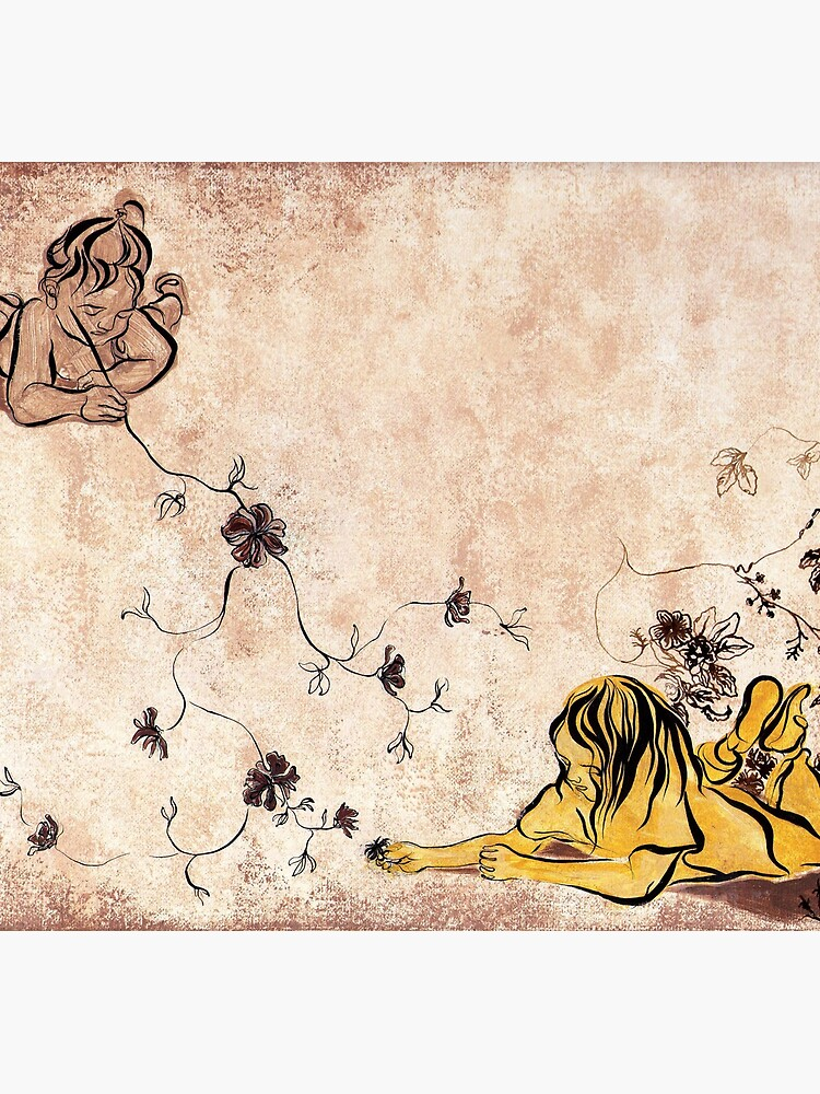 Children Drawing Flowers Painting by CatarinaGarcia