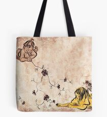 Children Drawing Flowers Painting Tote Bag