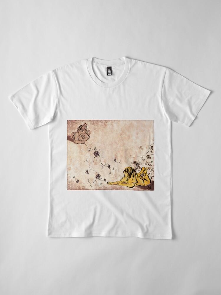 Alternate view of Children Drawing Flowers Painting Premium T-Shirt