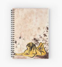 Children Drawing Flowers Painting Spiral Notebook
