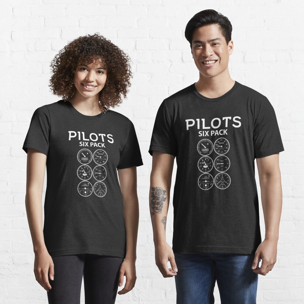 Pilots Sixpack - Funny Aviation Quotes Gift Essential T-Shirt
