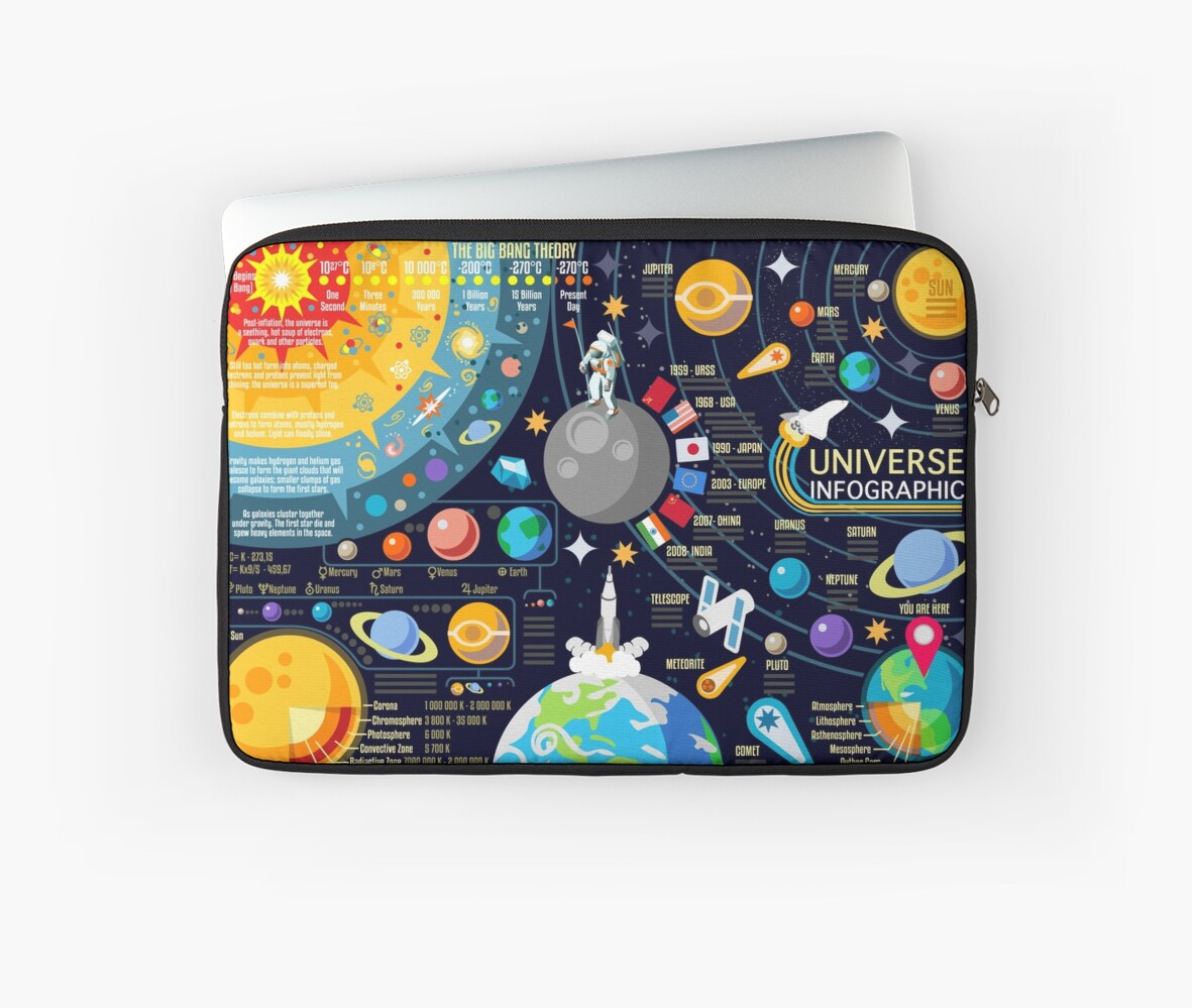 Space Universe Infographics Big Bang by aurielaki